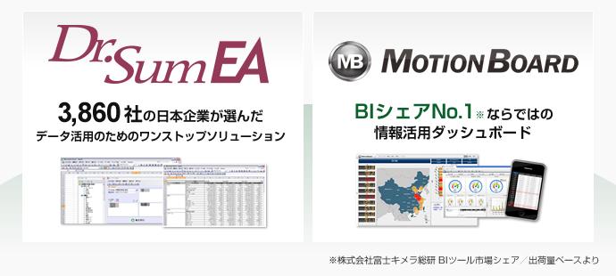 Dr.Sum EA 3,860社の日本企業が選んだデータ活用のためのワントップソリューション